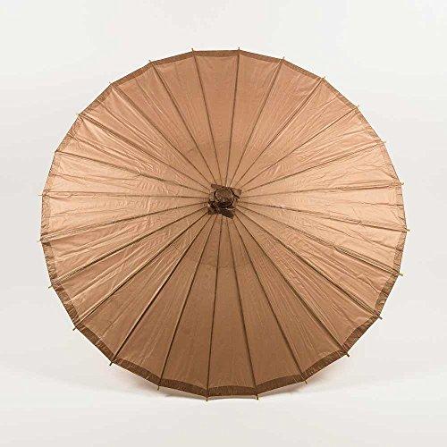 Quasimoon PaperLanternStore.com Bulk CASE 32 Inch Brown Paper Parasol Umbrellas (10 Pack) ()