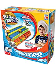 Fotorama Burger Mania Game Fast Pace Build a Burger Conveyor Fast Food Time Game Thrill Competition, 2 Players