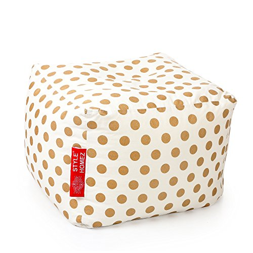 style-homez-square-cotton-canvas-polka-dots-printed-bean-bag-ottoman-l-size-cover-only
