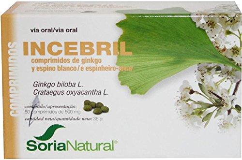 Soria Natural Incebril Ginkgo y Espino Blanco - 60 Comprimidos
