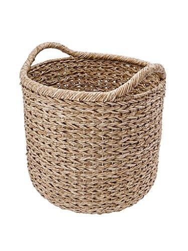 KOUBOO  Handwoven Decorative Storage Basket, X-Large, Twisted Sea Grass