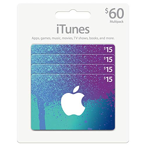 $60 iTunes Gift Card Multipack, 4x$15 - (Original from manufacturer - Bulk Discount available)