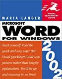 Word 2002 for Windows, Maria Langer, 0201758458