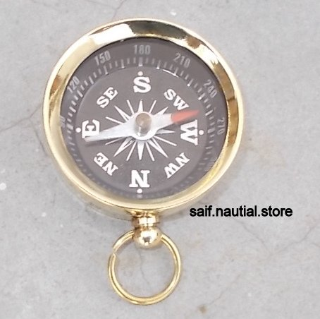 saif.nautical.store Solid Brass Directional Pocket Compass Hiking/Camping/Survival Gear by saif.nautical.store