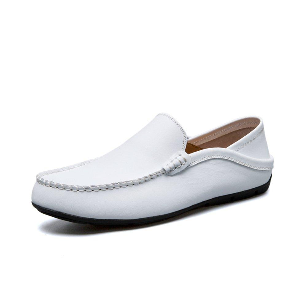 Sunny&Baby Slip de Holgazán de Moda de Tacón Plano de Hombre en Zapatos de Ocio Antideslizante (Color : Blanco, Tamaño : 40 EU) 40 EU Blanco