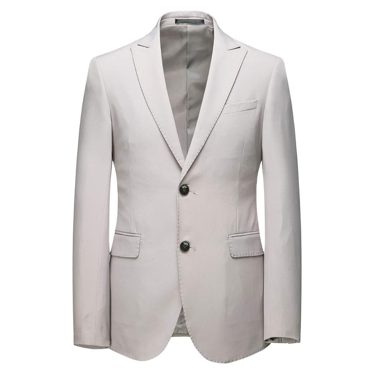 AOWOFS Herren 2 Teilig Slim Fit Anzug Elegant Zwei Knopf Smoking f/ür Business Hochzeit