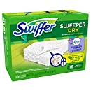 Swiffer Sweeper Dry Sweeping Pad Refills for Floor mop with Febreze Lavender Vanilla & Comfort Scent 16 Count (Pack of 12)