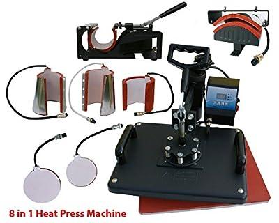 Denshine 8 in1 Heat Press Machine Digital T-Shirt Mug Hat Plate Cap Transfer Sublimation