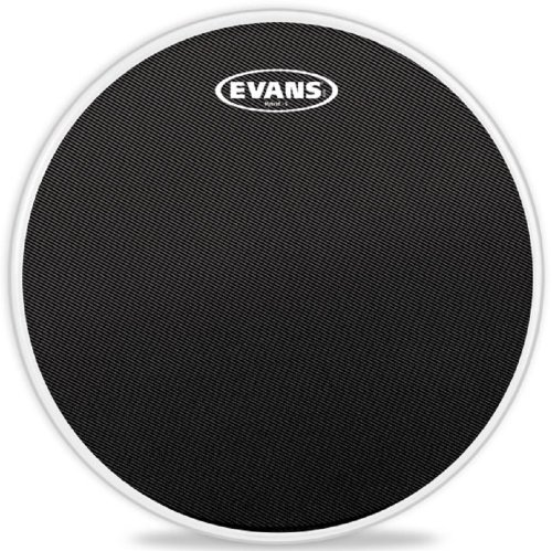 13 Inch Marching Snare Drum - Evans Hybrid-S Black Marching Snare Drum Head, 13 Inch