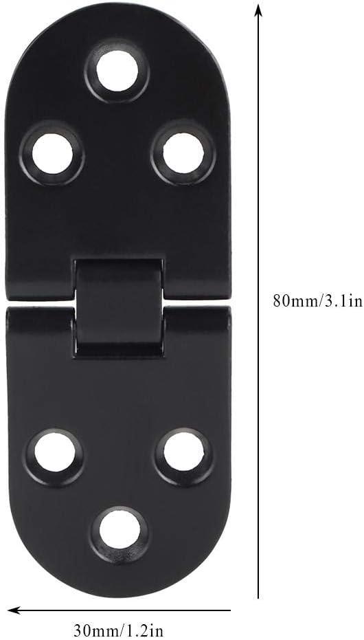 Mumusuki 4Pcs Aleaci/ón de Zinc Bisagra de Puerta Negra Bisagra de Mesa Bisagra abatible para gabinete Precio de Accesorio de Hardware