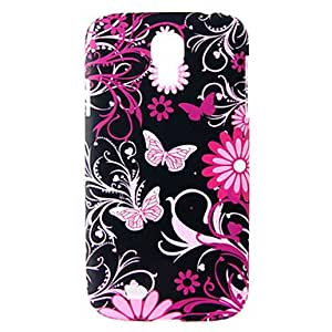 Colorful Flowering Shrubs Butterfly Pattern Soft Case for Samsung Galaxy S4 I9500