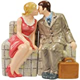 Westland Giftware The Brady Bunch Magnetic Carol and Mike Salt and Pepper Shaker Set, 3-3/4-Inch