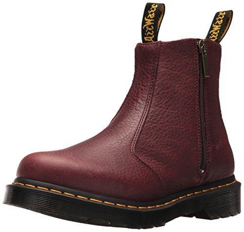 Stivali Donna Zips Dr Cherry Red Martens Grizzly 2976 Chelsea W qwY1IBY