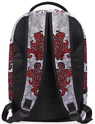YOJAP Laptop Rucksäcke,Herren Damen Notebook Business Tasche und Anschluss für bis zu 15.6 Zoll Stylisch Polyester Rucksäcke Gepolstert Daypacks Für outdoor schul Arbeit Rot