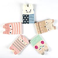 Women's Cute Animal Socks, Fun and Cool 100% Cotton Art Socks for Women
