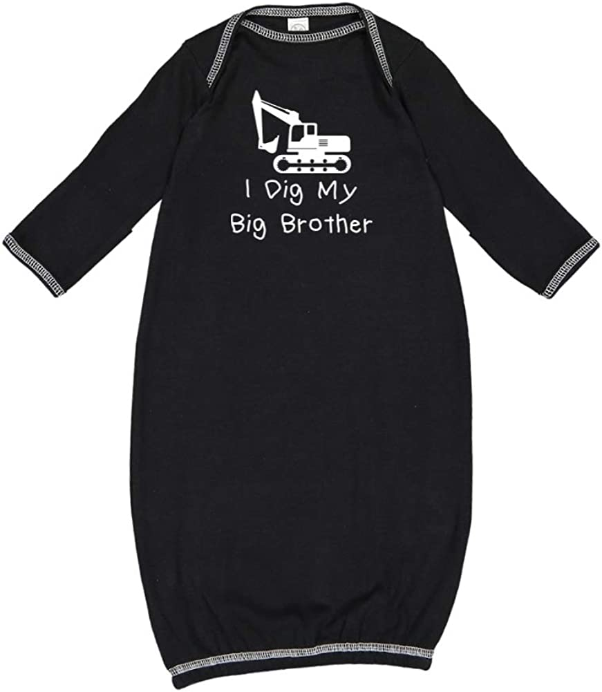 I Dig My Big Brother Baby Cotton Sleeper Gown