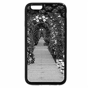 iPhone 6S Case, iPhone 6 Case (Black & White) - Romantic Rose Arches