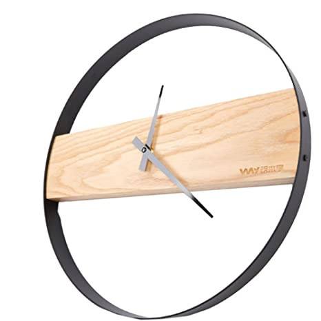 Reloj Pared Madera Digital, Moderno Sencillo Mudo Circular Decoraciones,DXNSPF Casa Cuarto Reloj Pared