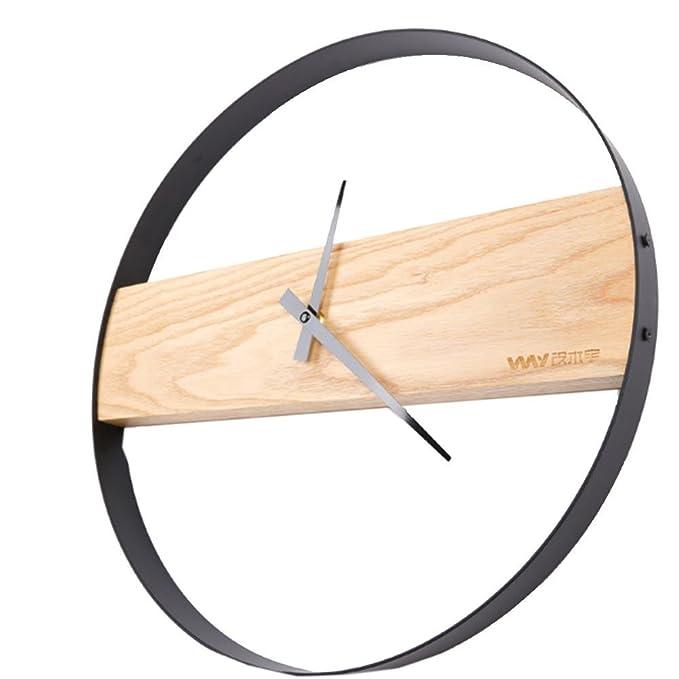 Reloj Pared Madera Digital, Moderno Sencillo Mudo Circular ...