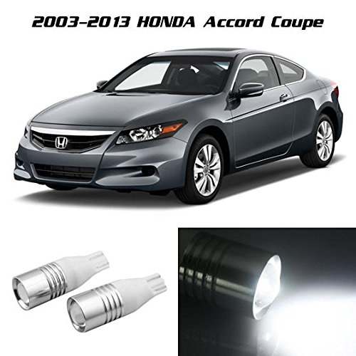 Partsam White Cree Smd Projector Lens Car Backup Light Honda Accord Coupe 2003 2004 2005 2006 2007 2008 2009 2010 2011 2012 - Coupe 2001 Audi Tt