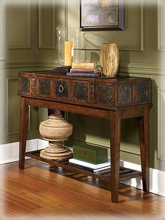 Rustic Dark Brown McKenna Sofa Table
