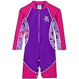 Tuga Girls High Tide L/S Swimsuit (UPF 50+), Purple Wave, 2/3 yrs