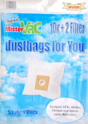- mistervac MV 606 / Vacuum Cleaner Bag Fleece 5-Layer/Economy Pack 20 Bags / 4 Filters/for Samsung SC/Dirt Devil