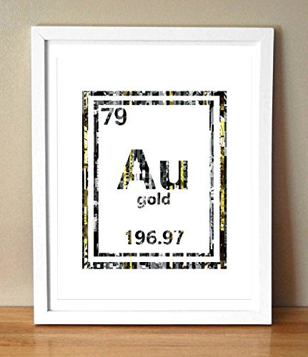 Amazon au gold periodic table magazine strip art print handmade au gold periodic table magazine strip art print urtaz Gallery