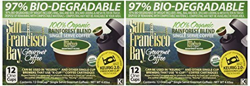 SAN FRANCISCO BAY RAINFOREST BLEND 24 ONE CUPS for Keurig K-Cup - Francisco Outlet Shopping San