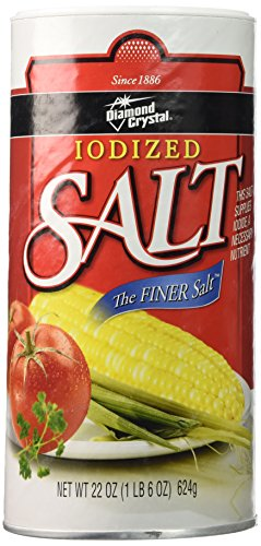 Iodized Salt - Diamond Crystal Iodized Salt 22 oz