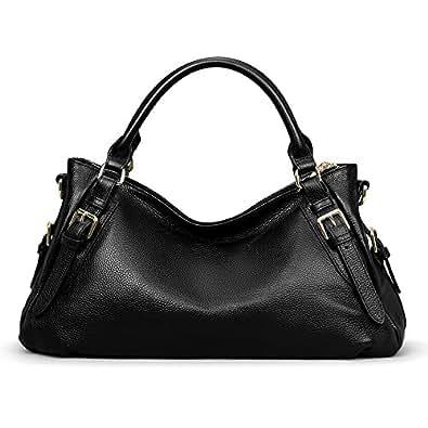 Amazon.com: Kattee Women's Genuine Leather Hobo Shoulder ...