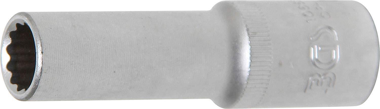   12 mm BGS 10662 entrada 12,5 mm 1//2 Llave de vaso 12 caras larga