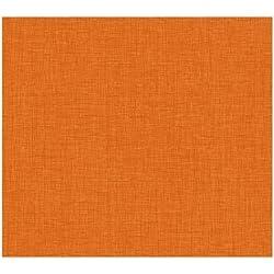 York Wallcoverings KB8676 Bistro 750 Linen Prepasted Wallpaper, Orange Apricot