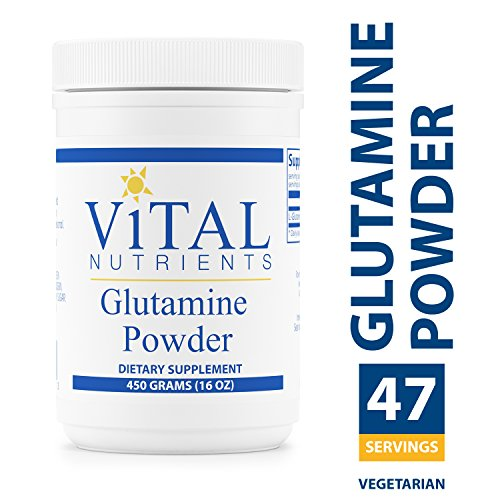 Vital Nutrients - Glutamine Powder - Gastrointestinal and Immune Support - Vegetarian - 450 Grams