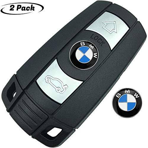 BMW 용 2PCS11MM 키 버튼 엠블럼 교체 모든 BMW 원격 제어 키 모델에 적합