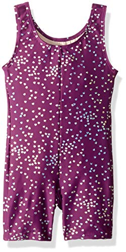 Danskin Girls' Little Gymnastics Unitard, Heart Drops, Small (4/6) by Danskin