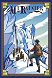 Mt Rainier, Washington - Ice Climbers (12x18 Premium Acrylic Puzzle, 130 Pieces)