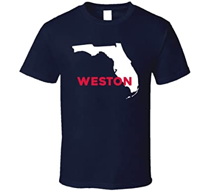 Weston Florida Map.Amazon Com Weston Florida Custom City Patriotic Usa Map T Shirt