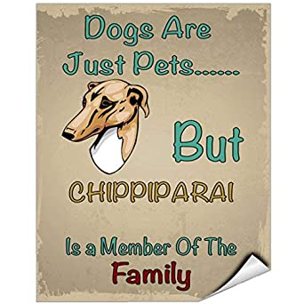 Dogs Just Pets But Chippiparai Dog Member of Family Vinyl