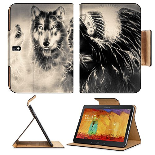 samsung-galaxy-tab-pro-101-tablet-flip-case-a-beautiful-airbrush-painting-of-an-young-indian-warrior