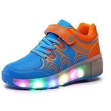 Richarde Kids & Adults LED Roller-skating Shoes Colored Light Heelys