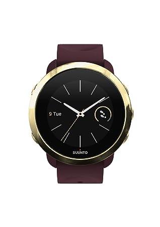 Suunto SS050054000 3 Fitness - Reloj Multideporte con GPS y pulsómetro incorporado, Pantalla Matricial, Unisex Adulto, Granate/Dorado (Burgundy), ...