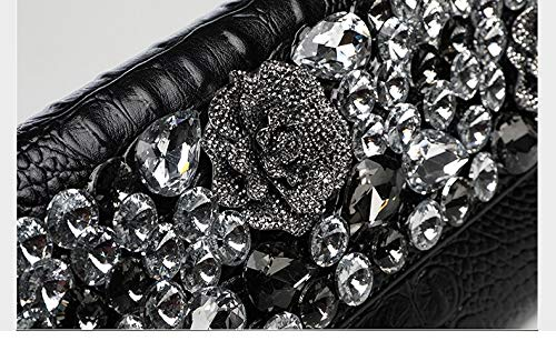 25x15cm soirée 10x6inch Rouge Et Classique Enveloppe Fashion pour Chaîne d'autres Noir soirée de de Parti à Amovible Solid fériés Bal Sac Sacs Color Jours Main avec Pochette AASg4qTn