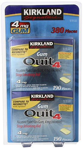 Kirkland Signature Quit Smoking Nicotine Gum, 4 mg (380 Pieces) -