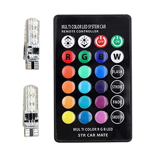 5050 6SMD Multicolor Car LED Bulbs with Remote Control Width Light Car Side Light Bulbs ()