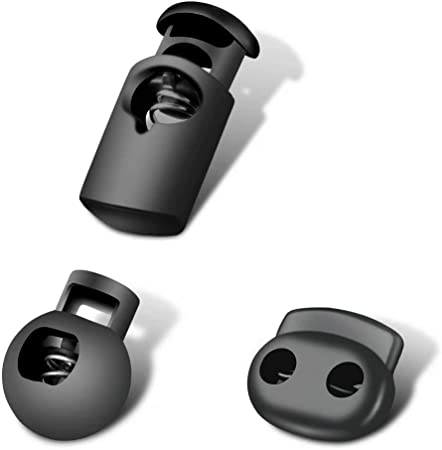 Plastic Spring Single Hole Stoppers Stop Cord Locks End  Round Toggle Loaded