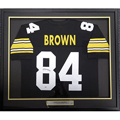 b23996a25 Pittsburgh Steelers Antonio Brown Signed Framed Black Jersey - PSA DNA  Certified