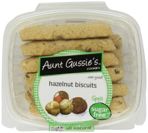 (Aunt Gussie's Sugar Free Hazelnut Biscotti, 8-Ounce Tubs (Pack of 4))