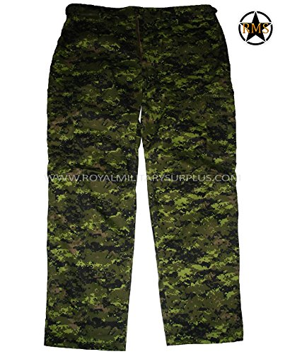 Royal Military Surplus Combat BDU Pants - Canada Army Digital Camouflage - Airsoft & Paintball Gear - CADPAT (Temperate Woodland)