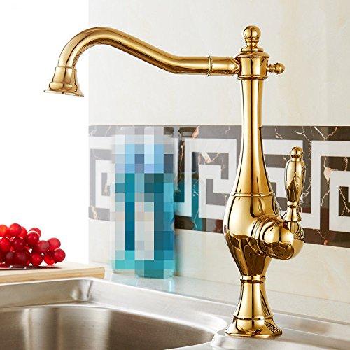 ETERNAL QUALITY Badezimmer Waschbecken Wasserhahn Messing Hahn Waschraum Mischer Mischbatterie Tippen Sie auf Küche Wasserhahn Kaltes und Heißes und Kaltes Wasser Steckpl